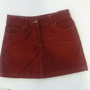 Mini Boden Red Burgundy Girl Skirt 9-10